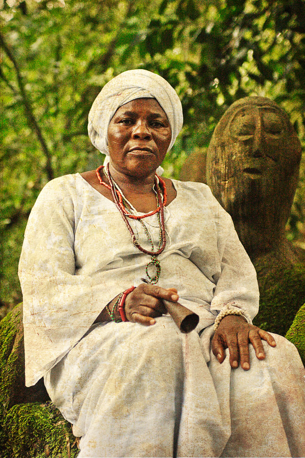 Emissaries of an iconic religion15. Orisa Osun [diety of good of prosperity and of water]   Mrs Titilayo Ogunrimu